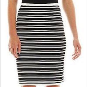 I heart Ronson striped pencil skirt size S